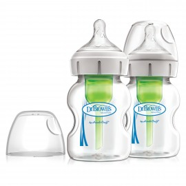 "Pachet Biberoane Sticla cu Gat Larg 150 ml. ""Options Plus"" (2 pack), BPA Free"