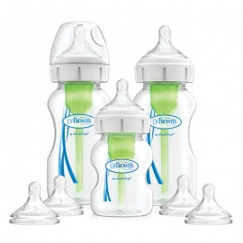 "Pachet Biberoane cu Gat Larg Polipropilena Starter Kit, ""Options Plus""(BPA free)"