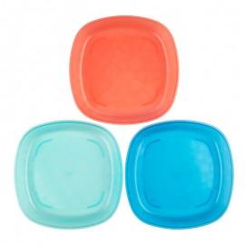 Set farfurii colorate ptr. bebelusi (3pack)