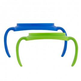 Manere pentru canite tranzitie, 2 pack (BPA Free) Albastru/Verde