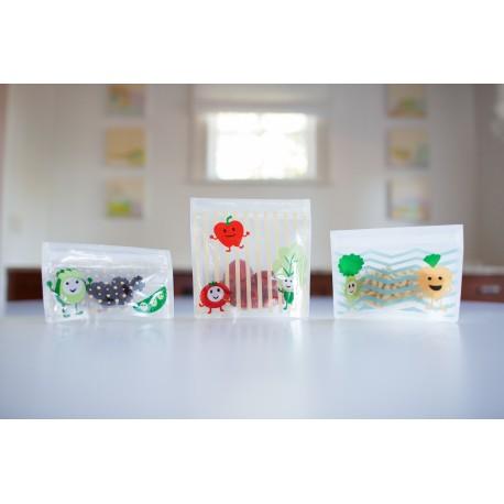 Pungi reutilizabile ptr. gustari, 3 pack, BPA Free