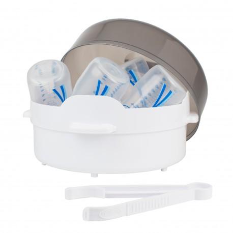 Sterilizator cu aburi pentru cuptorul cu microunde (include 1 cleste)