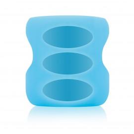 Protectie din silicon ptr. biberon din sticla cu Gat Larg 150 ml., Albastra