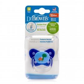 Suzeta PreVent din Silicon, cu capac, Design Fluture (BPA Free) 12 luni+, Albastra