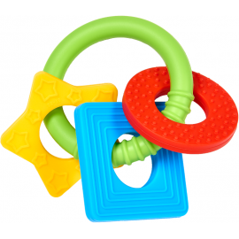 Jucarie dentitie din silicon design figuri geometrice BPA Free