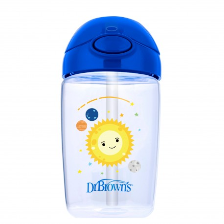 Canita cu pai si capac, 350 ml. BPA Free